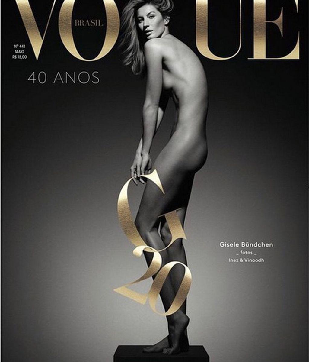 Gisele Bündchen se desnuda para Vogue