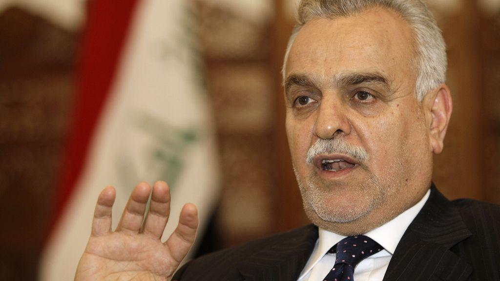 El vicepresidente iraquí Al Hashemi,