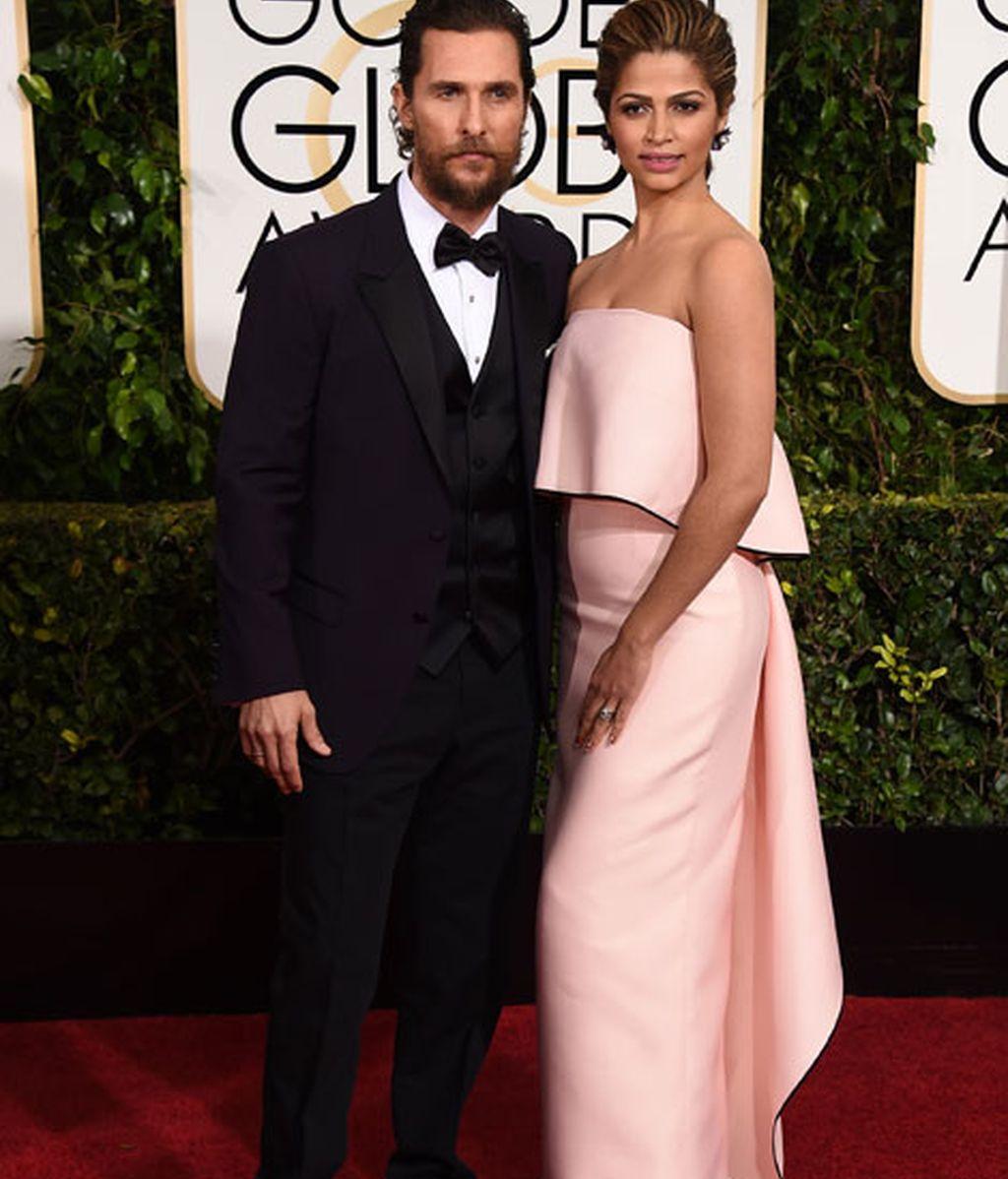 Matthew McConaughey y Camila Alves en la alfombra roja
