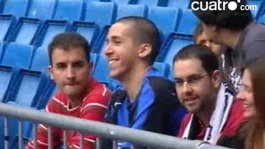El inter, muy presente ayer en el Bernabéu