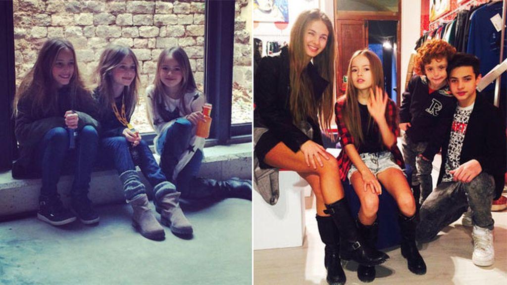 La mini modelo rusa pasa mucho tiempo con sus compañeros de profesión