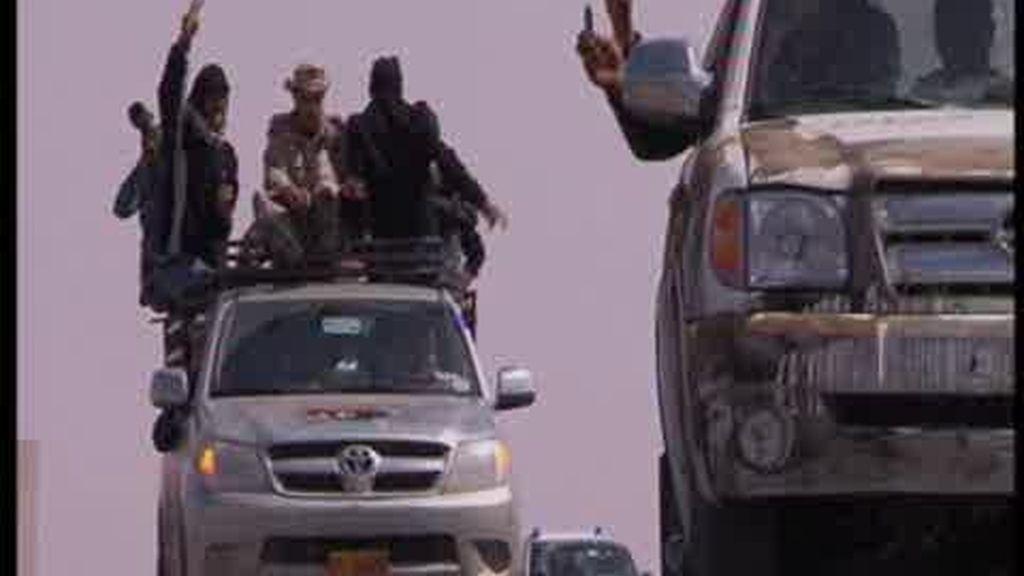 Avance rebelde en Libia