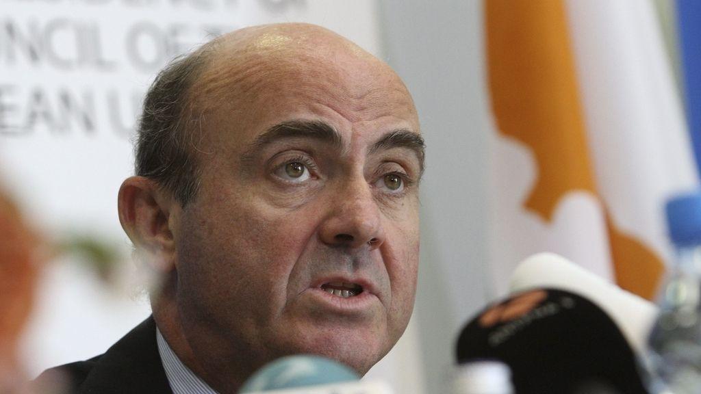Luis de Guindos en el Ecofin. Foto: EFE