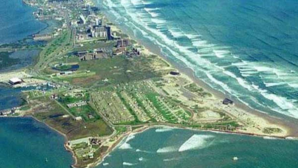 South padre Island, perteneciente al estado de Texas tiene 55 kilómetros