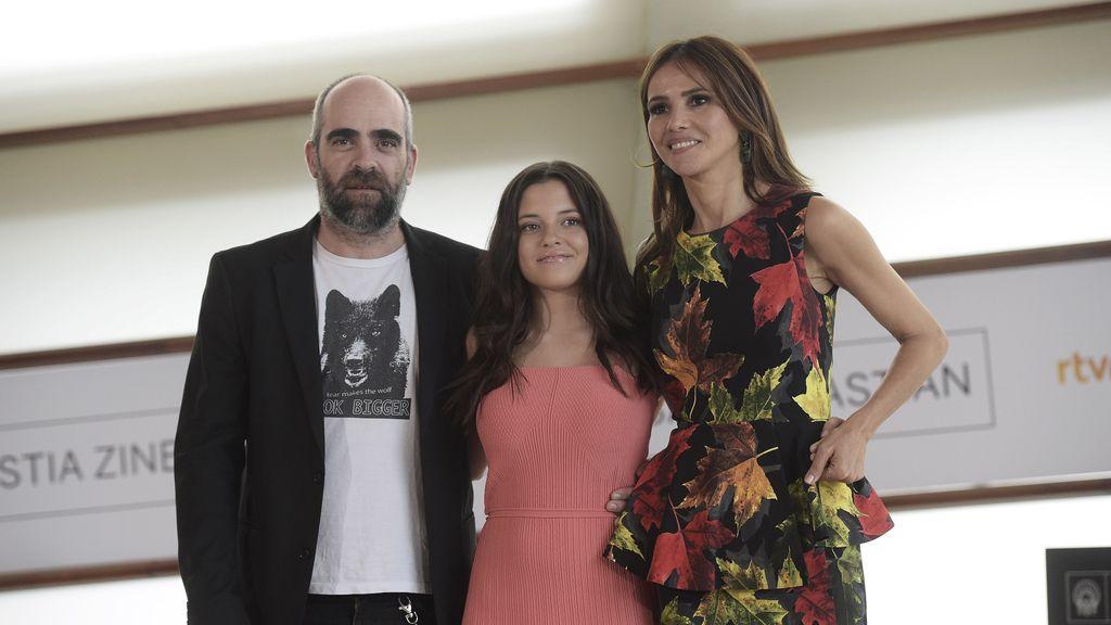 """Luis Tosar, Paula del Río y Goya Toledo en el photocall de """"El Desconocido"""""""