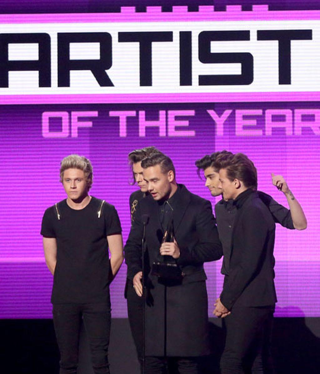 Los One Direction se consagró como el mejor grupo del año