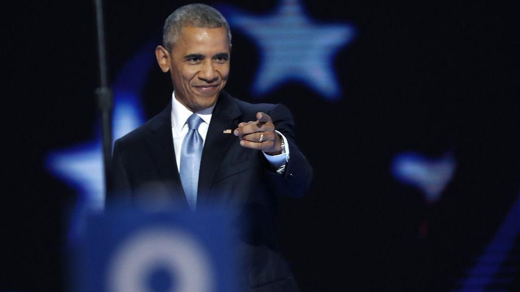 Obama, durante la Convención Demócrata