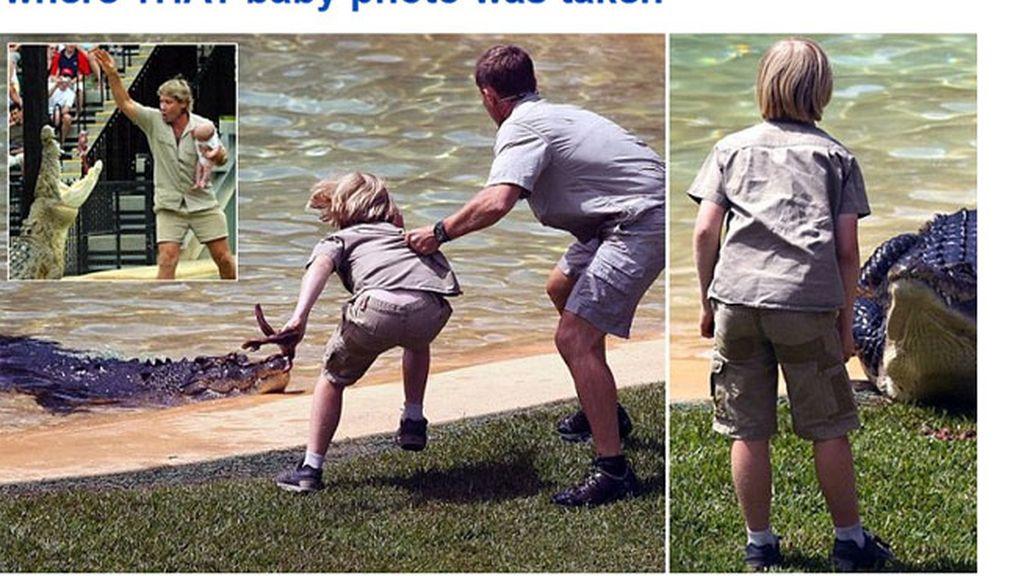 Robert Irwin,Steve Irwin,cocodrilo,zoológico de Australia