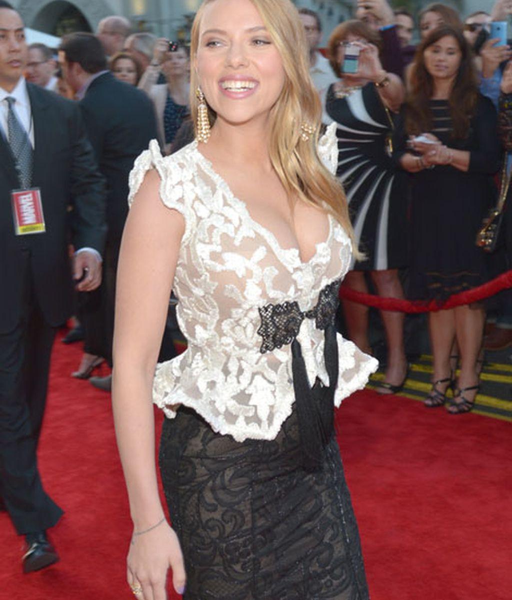 Johansson, de 29 años, está embarazada de su primer hijo