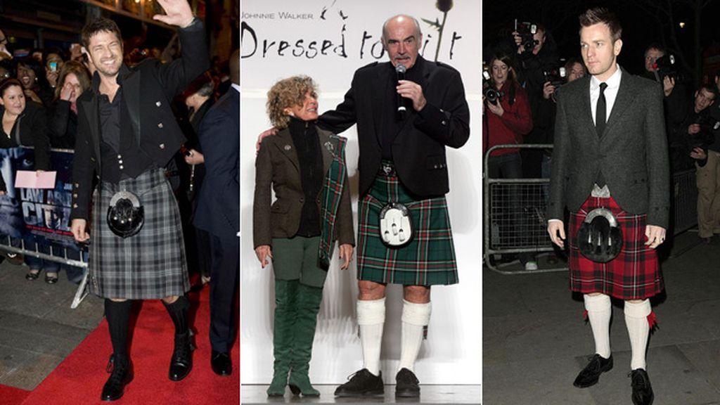 Escoceses orgullosos: Gerard Butler, Ewan McGregor y Sean Connery