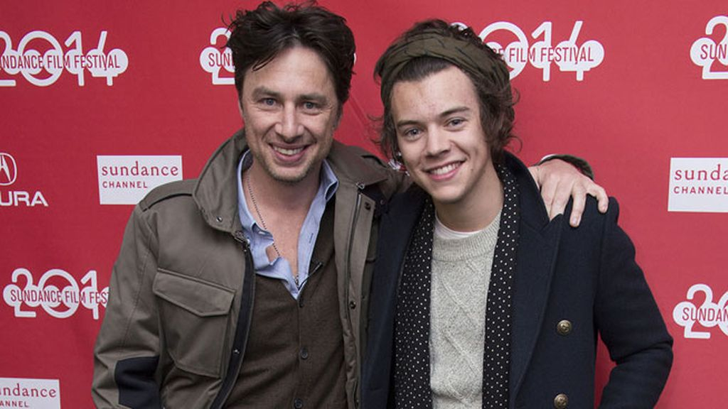 El director Zach Braff y el cantante Harry Styles, en la premiere de 'Wish I Was Here'