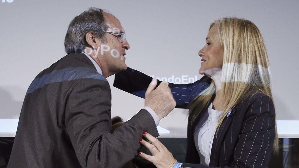 Cristina Cifuentes y Ángel Gabilondo en un debate electoral