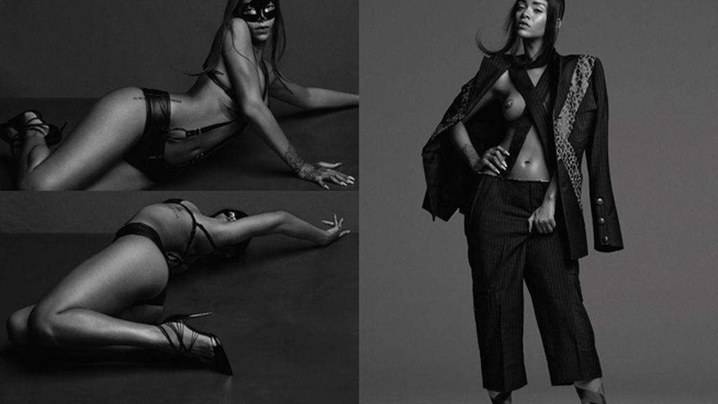 Rihanna posa a lo Cincuenta Sombras de Grey