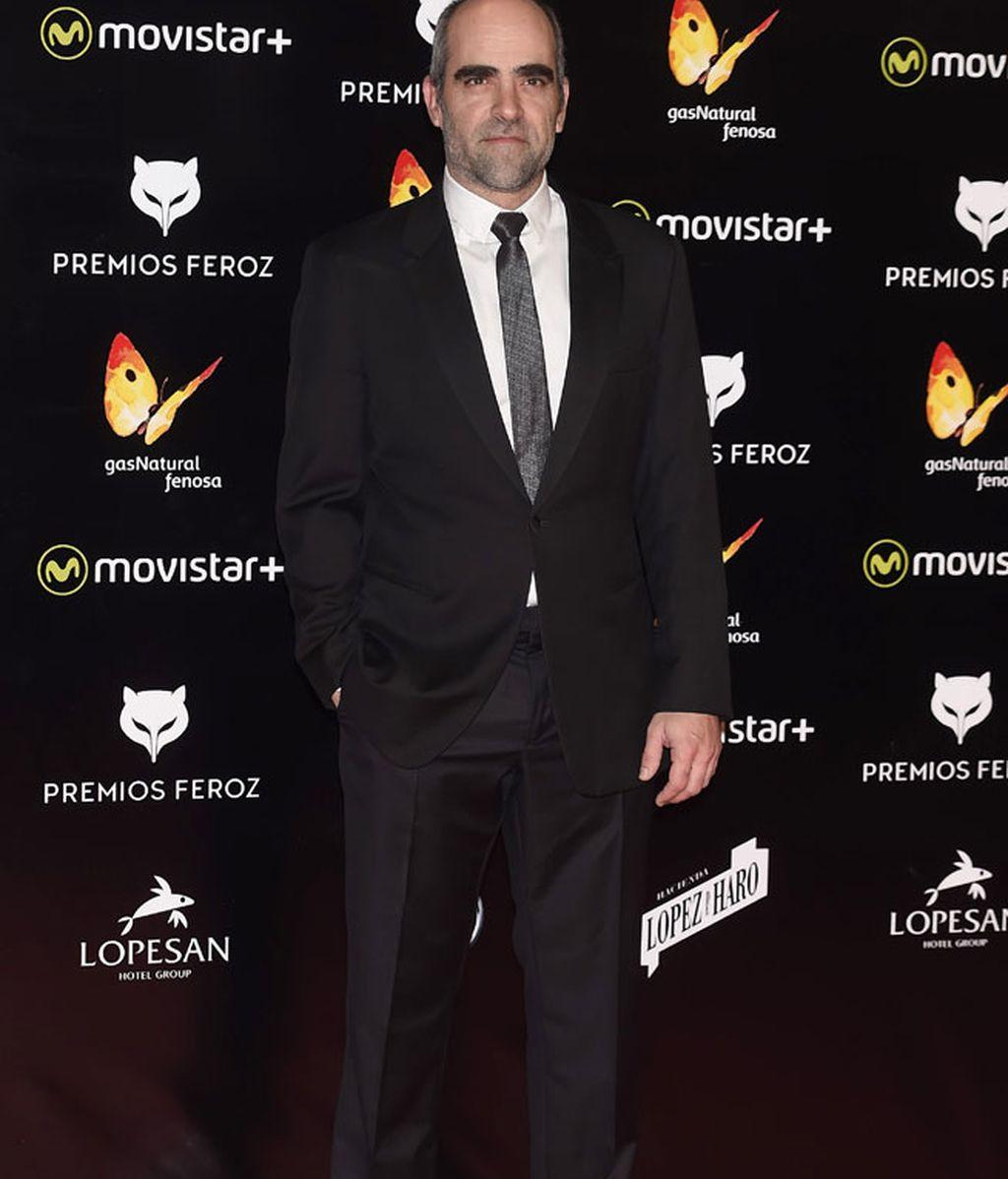 Luis Tosar con traje y corbata gris