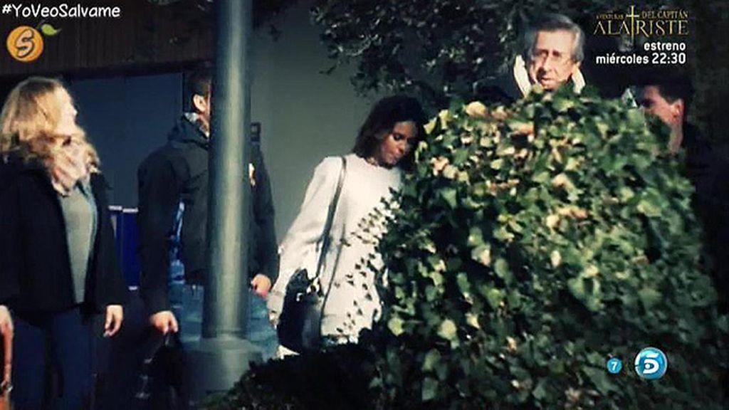 Gloria Camila y José Fernando llegaban a su casa de Madrid para ver a su padre