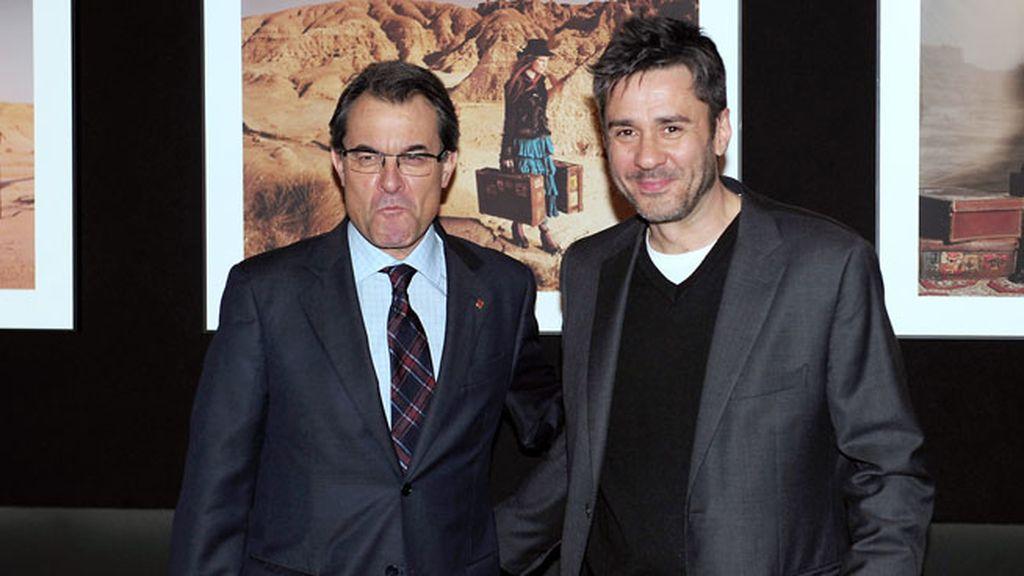 El presidente de la Generalidad de Cataluña y el fotógrafo Jaume de Laiguana