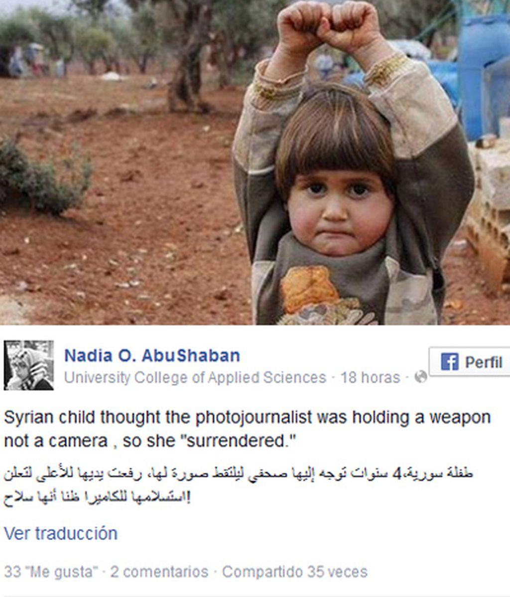 La rendición de una niña siria que pensó que la cámara era un arma