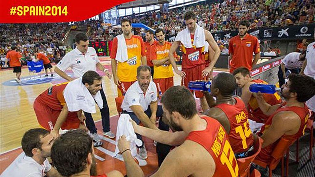 Orenga banquillo España baloncesto