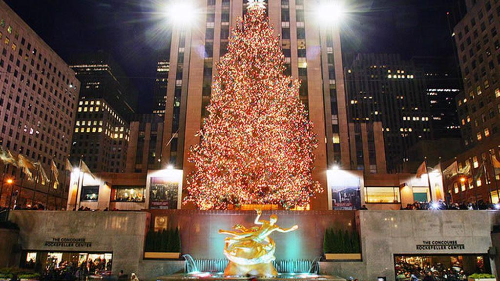 La navidad en Nueva York no se concibe sin el mítico árbol de Navidad de la Rockefeller Center