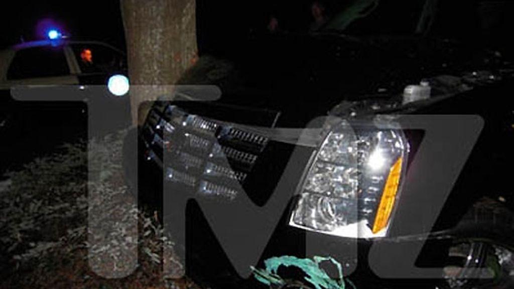 Así quedó el coche de Tiger Woods tras su accidente