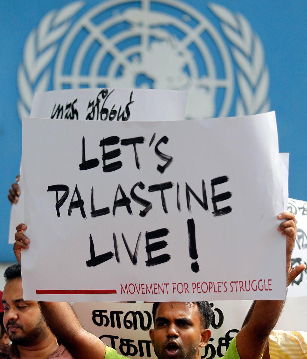 Manifestación en favor de Palestina