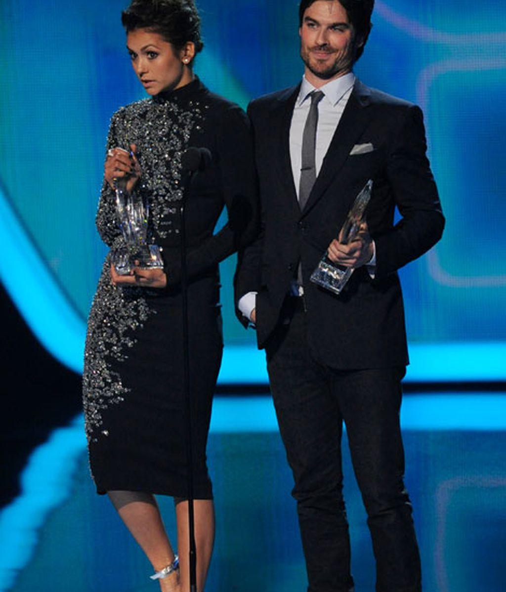 Ian Somerhalder y Nina Dobrev: premio a química ante las cámaras tras su ruptura