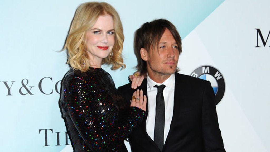 Nicole Kidman y Keith Urban eligieron el color oscuro