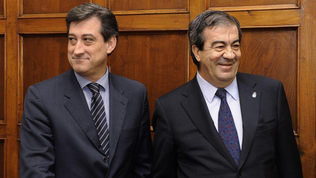Francisco Álvarez-Cascos junto a Ignacio Prendes