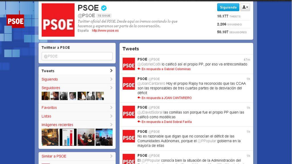 El Twitter del PSOE
