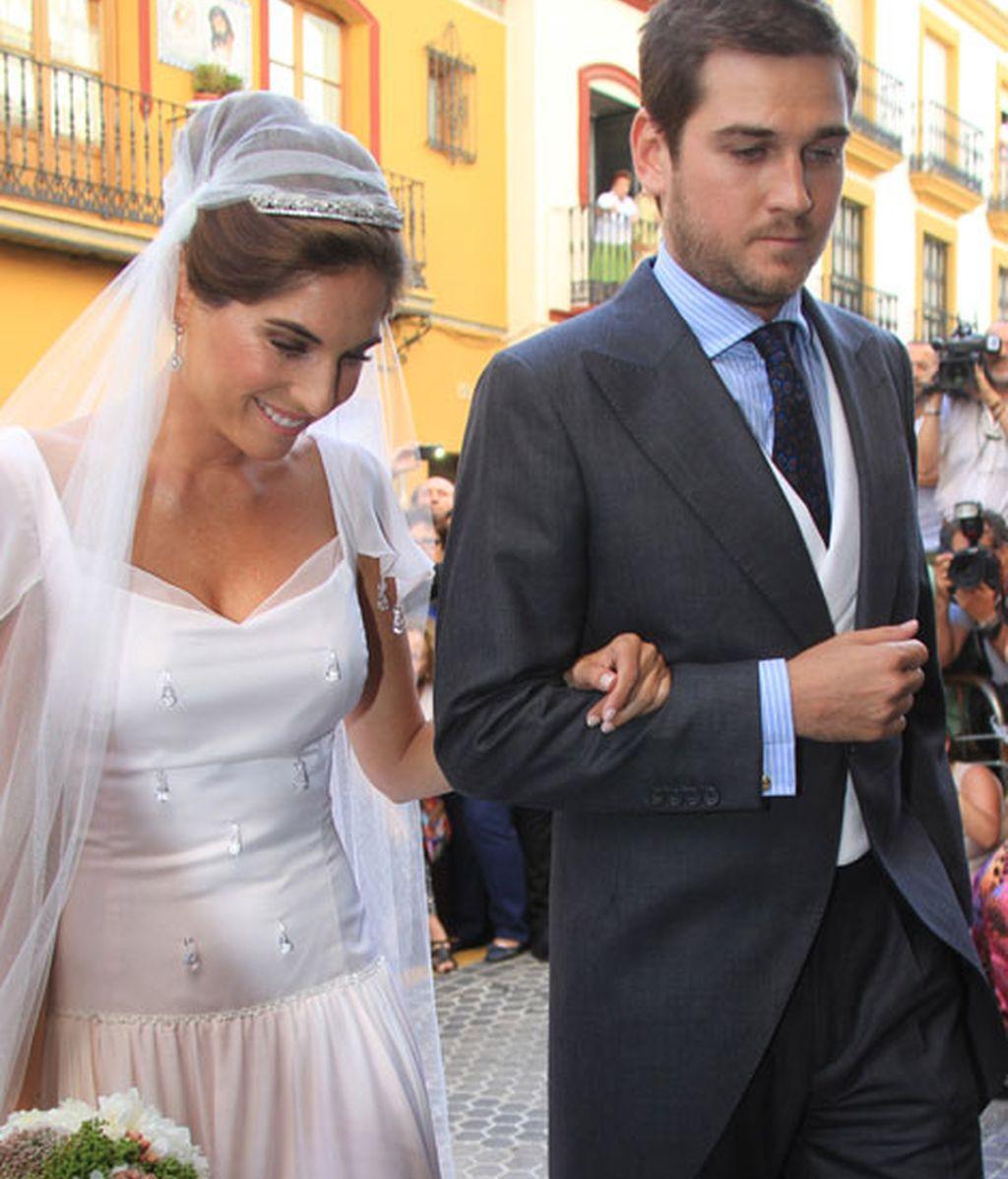 Lourdes Montes, acompañada por su hermano Curro