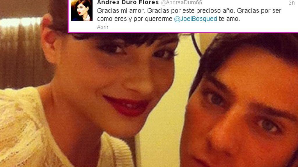 Joel Bosqued y Andrea Duro, prometidos en el primer aniversario de su amor