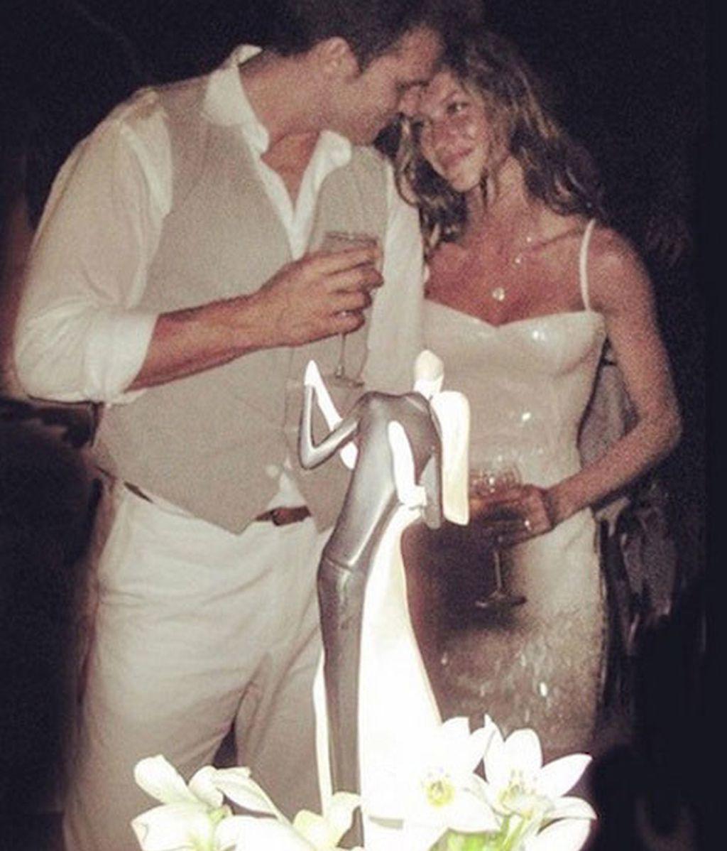 Gisele Bündchen desvela su vestido de novia en Instagram
