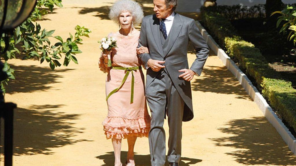 Unos de sus looks más comentados fue el que lució en su boda con Alfonso Díez