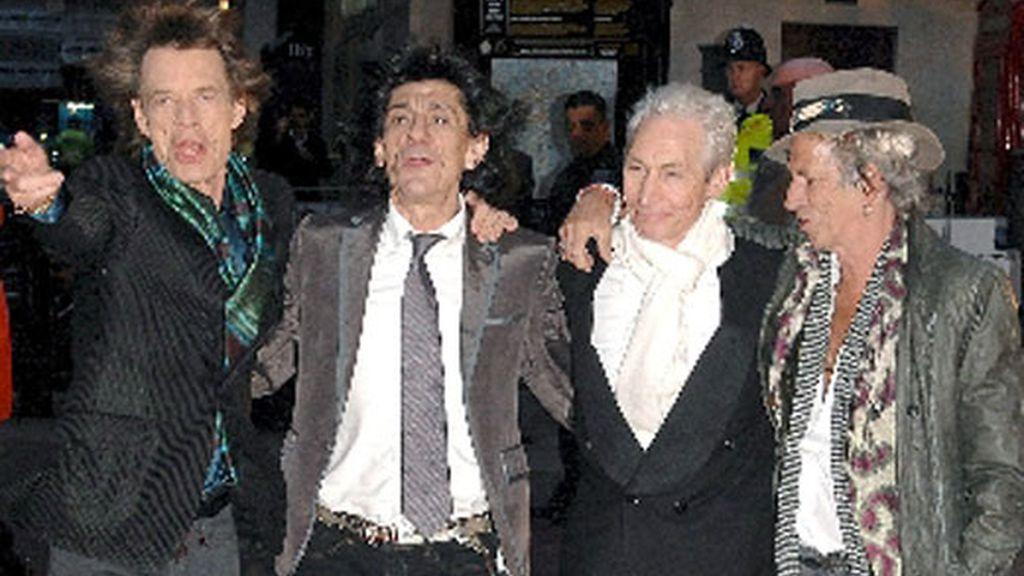 De izquierda a derecha los componentes de los Rolling Stones: Mick Jagger, Ronnie Wood, Charlie Watts y Keith Richards. Foto: EFE
