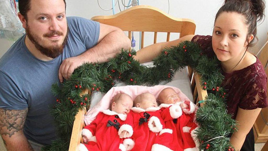 bebés,trillizos,operación en el útero,fetos,Eilah,Erin,Elsie