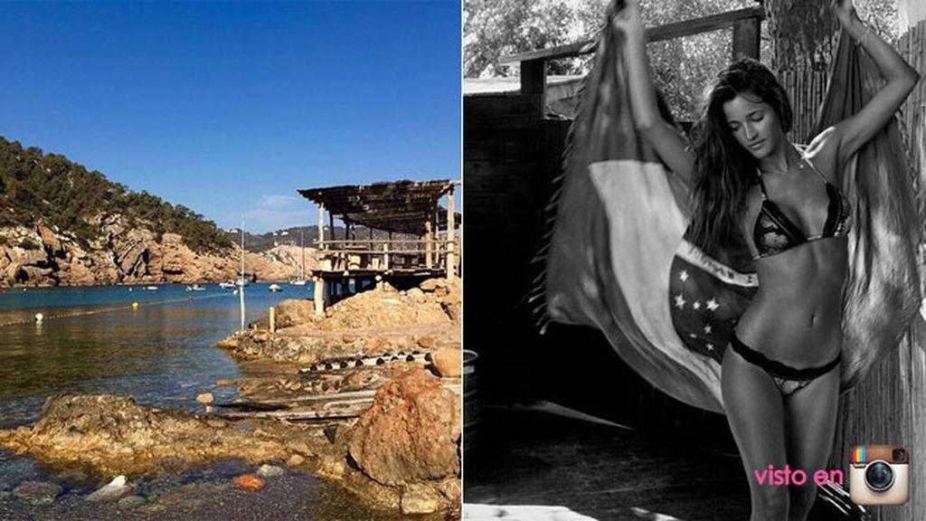 Malena Costa, trabajando en Ibiza pero... ¡con estas vistas!