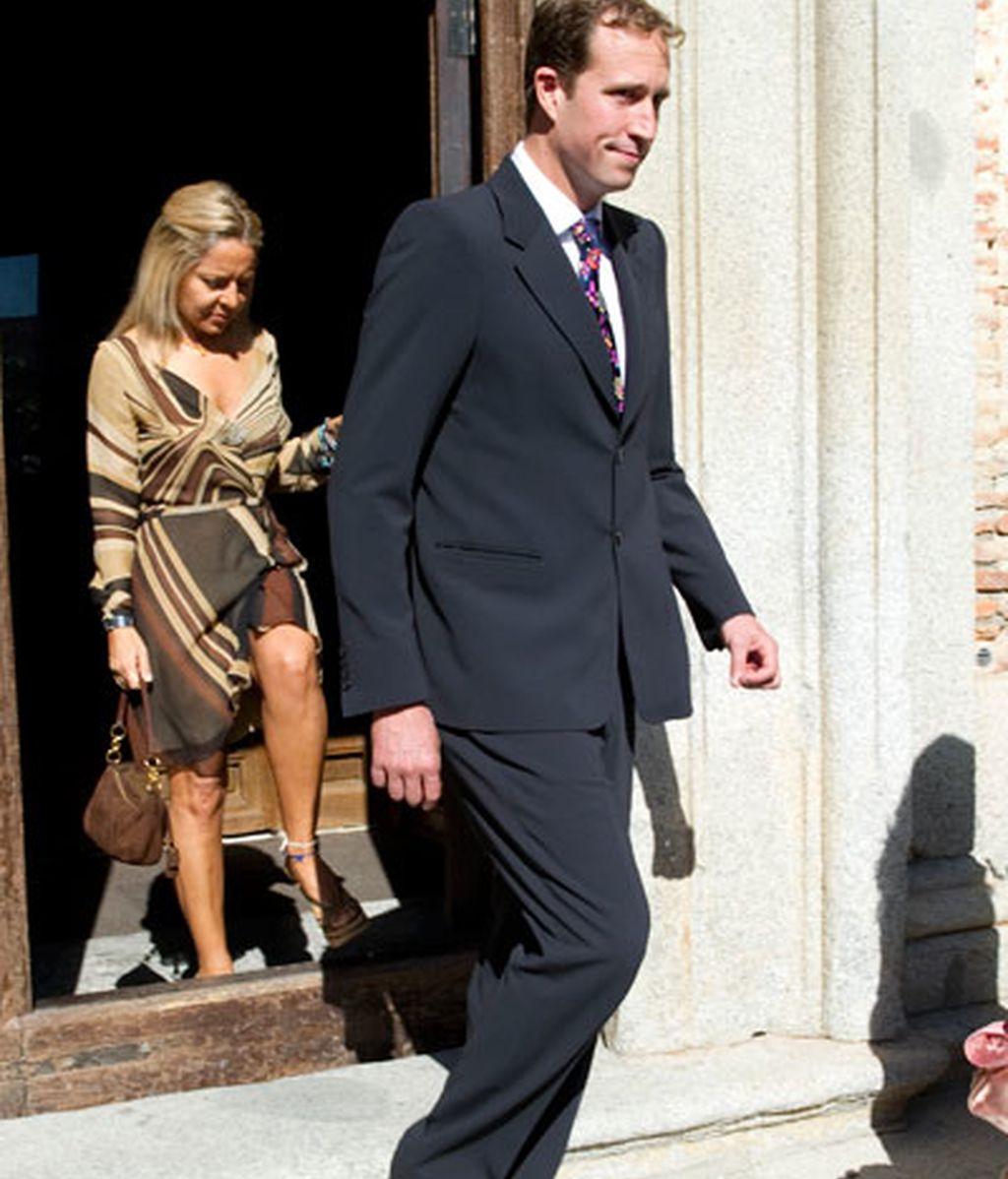 Borja Thyssen bautiza a su hijo Eric sin la presencia de la Baronesa