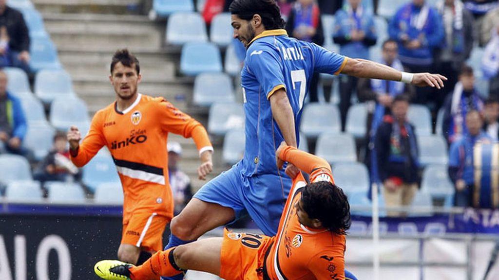 El Getafe pierde ante el Valencia (0-1)