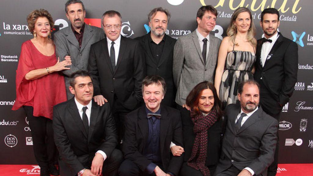 Daniel Monzón y Jesús Castro en los Premios Gaudí