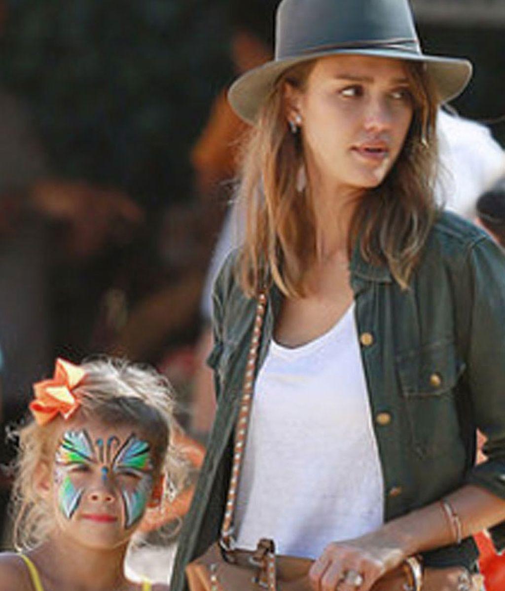 Jessica Alba, 'Shopping' de calabazas
