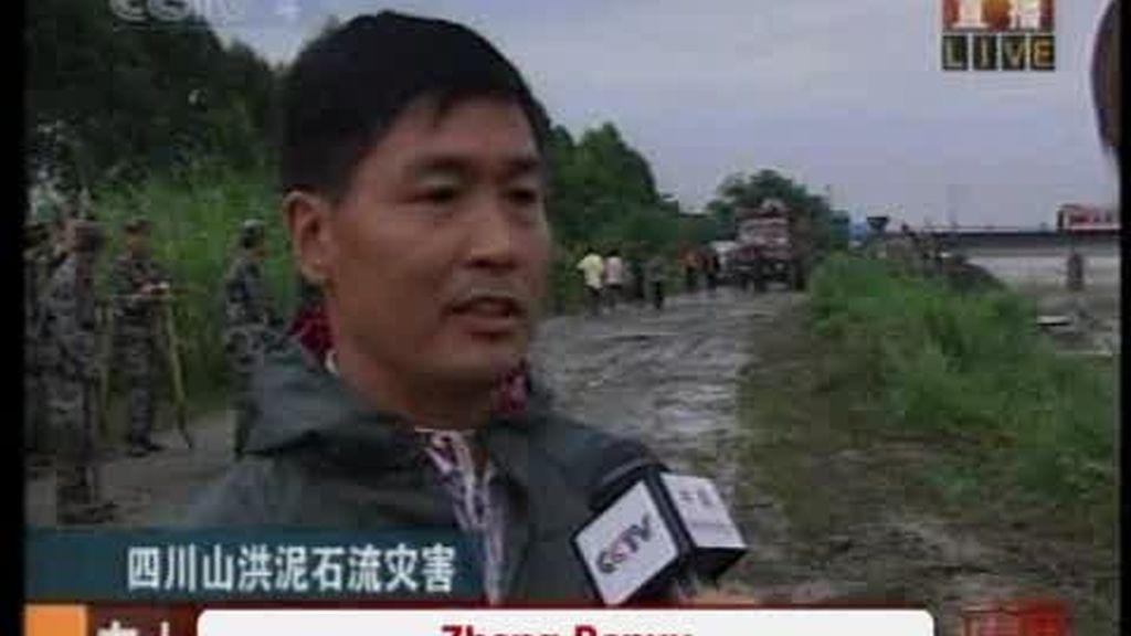 China, desbordada por la crecida de un río