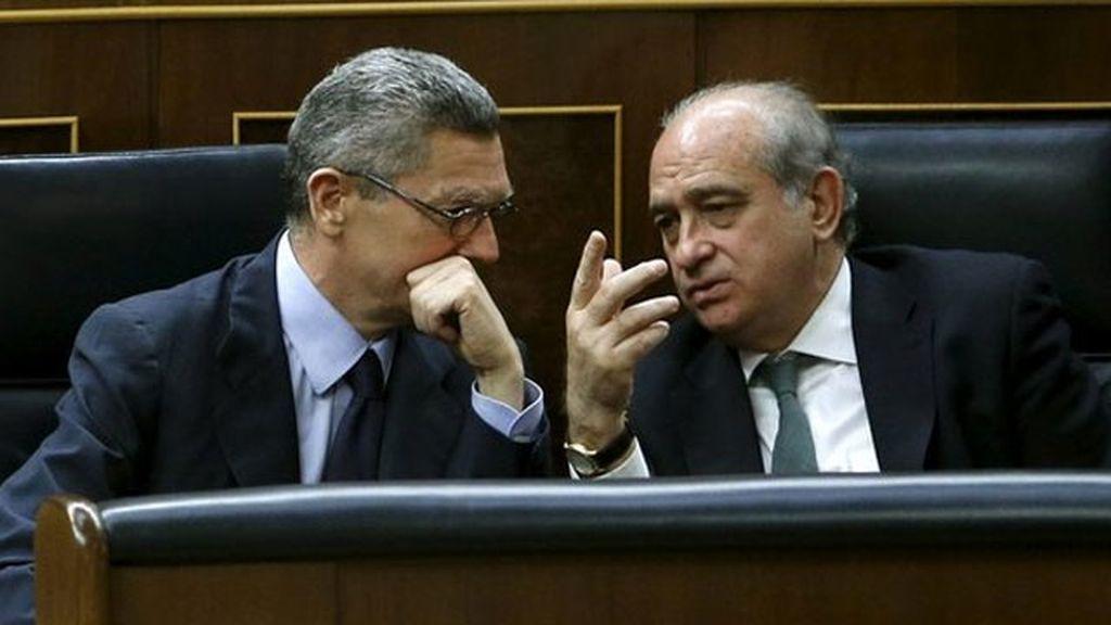 Alberto Ruiz-Gallardón y Jorge Fernández Díaz