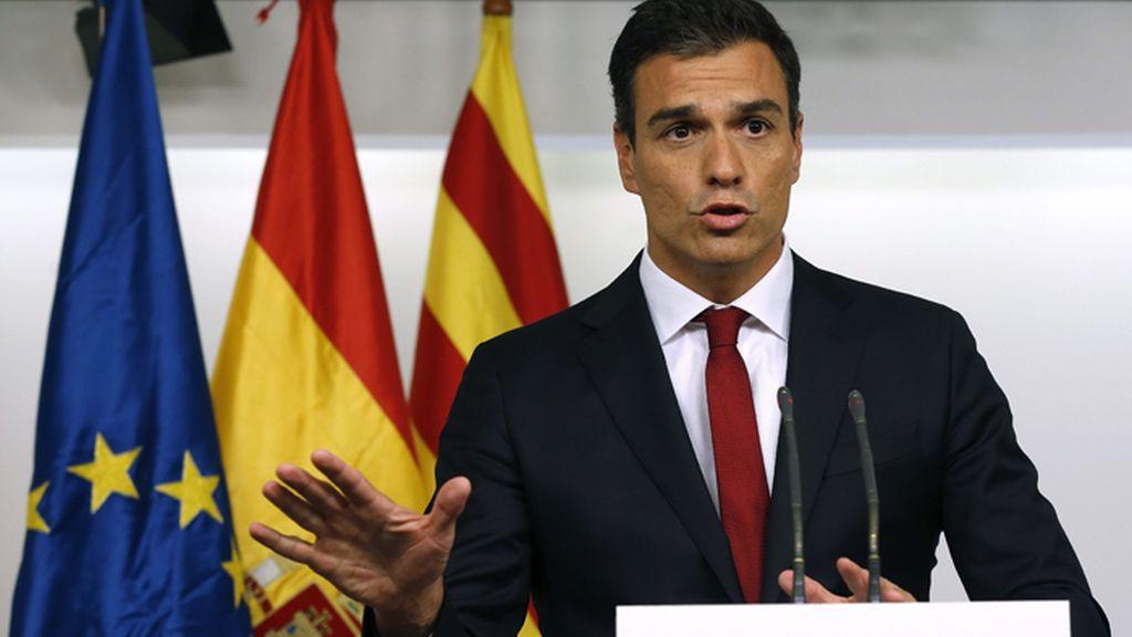 Pedro Sánchez valora los resultados electorales en Cataluña