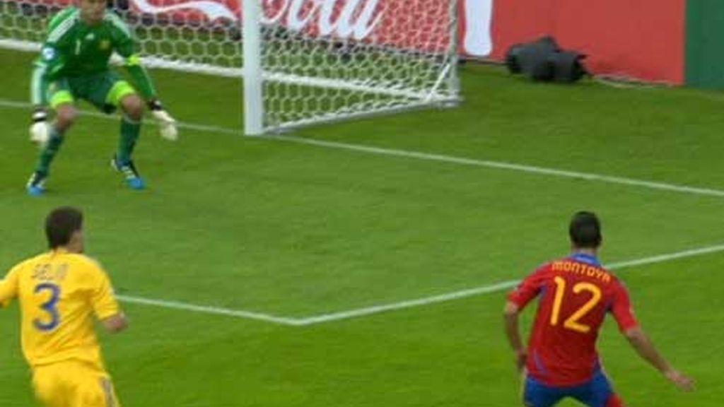 El pase de la muerte de Montoya en el segundo gol