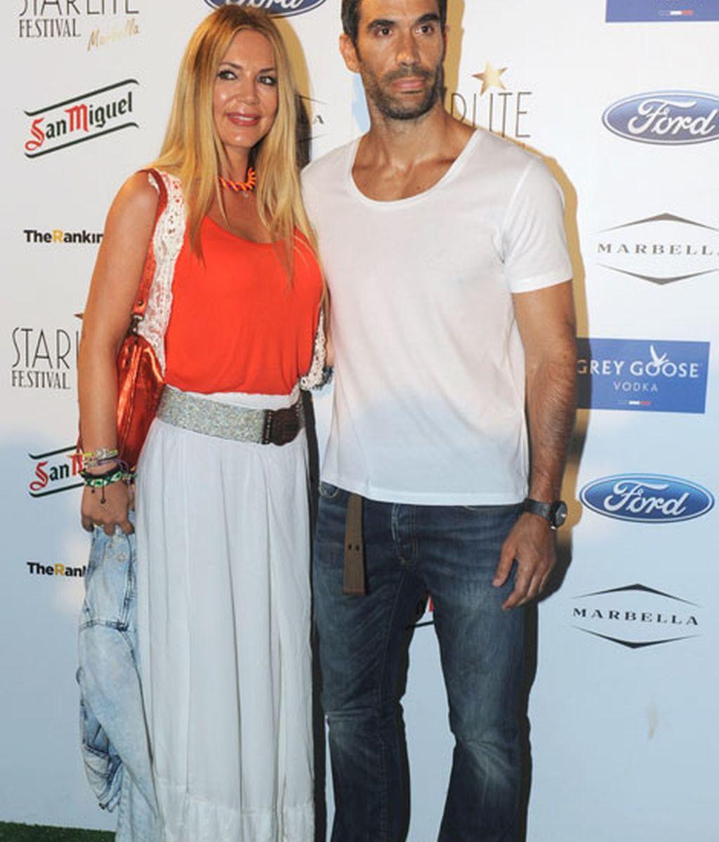 La presentadora Ingrid Asensio junto a Fernando Sanz