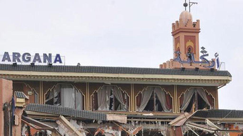 Así quedó el café de Marraquech tras el atentado