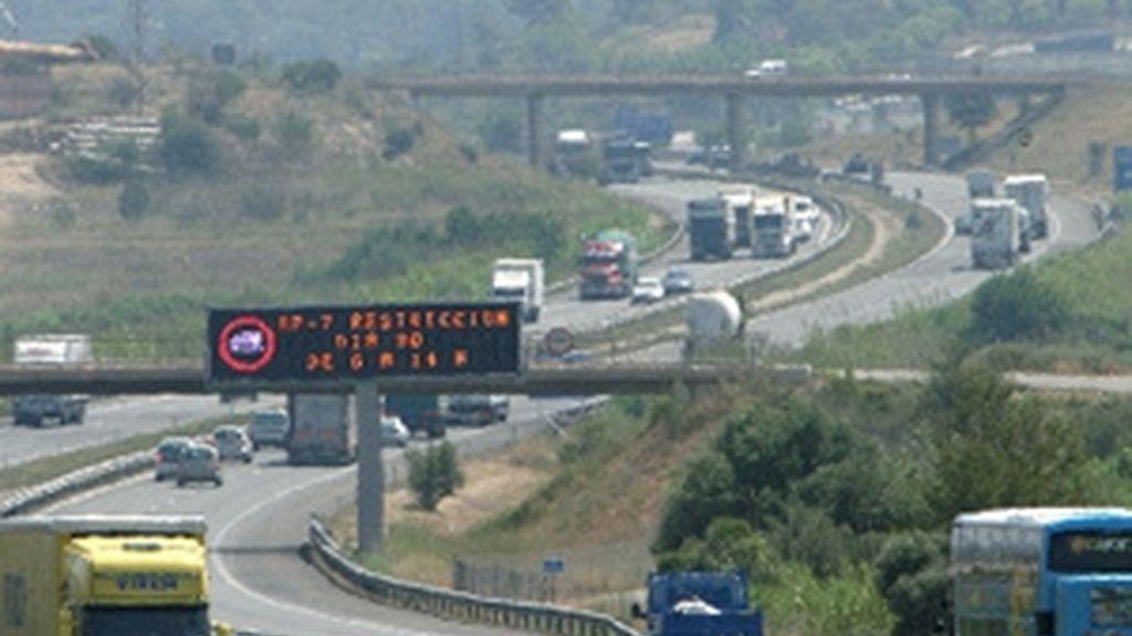 Día de huelga de los transportistas. Vídeo: ATLAS.