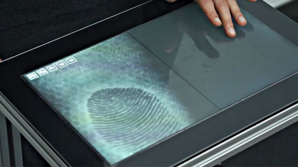Fiberio, pantalla táctil, huellas digitales, Christian Holz