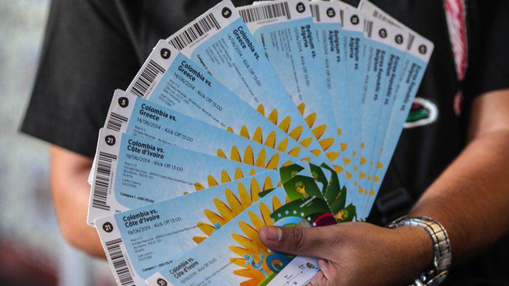 Entrega de las entradas para Brasil 2014 en Río de Janeiro