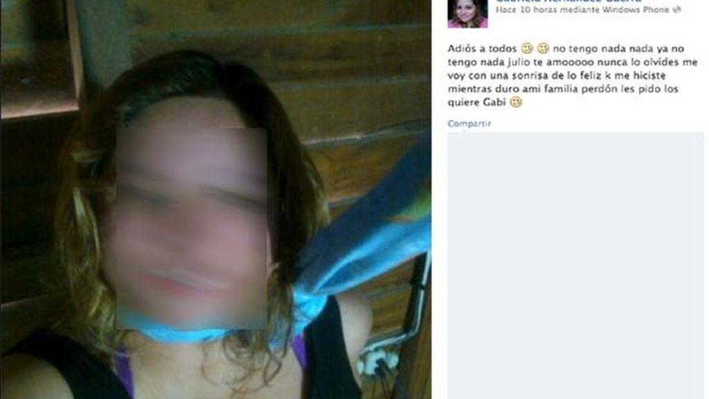 Anuncia su suicidio en Facebook
